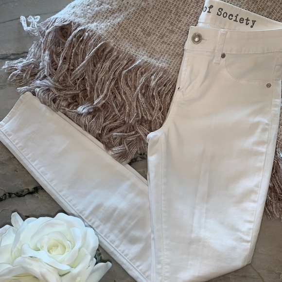 Articles Of Society Denim - Articles Of Society Optic White Skinny Jean
